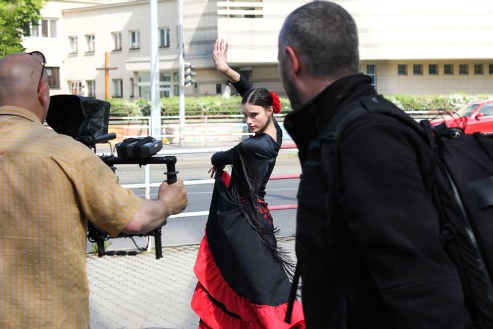 Diana Hajduchová. Natáčanie spotu na MDT 2014.
