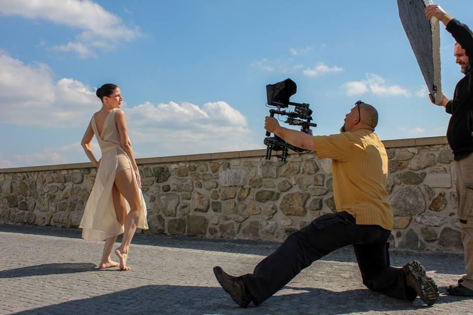 Katarína Kaanová. Natáčanie spotu na MDT 2014.